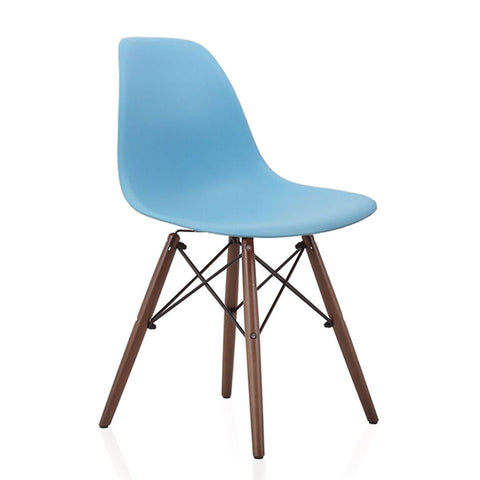 Eames Style Molded Side Chair with Eiffel Wooden Legs Wazo Furniture – Eames Like Chair