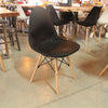Eiffel Eames Style DKW Leather Side Chair