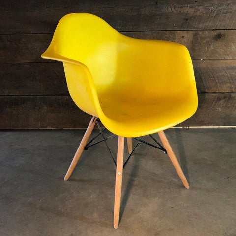 Eames Style Molded Armchair - Yellow & Orange - Wazo Furniture