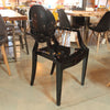 Starck Style Louis Ghost Chair - Solid Black