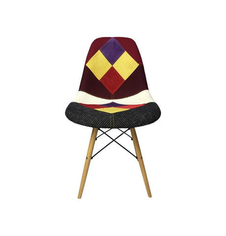 Eames Style Harlequin Patchwork Side Chair