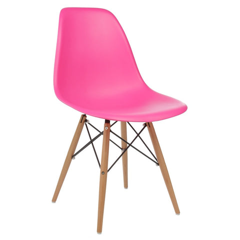 Eames Style Molded Side Chair - Pink & Sea Foam