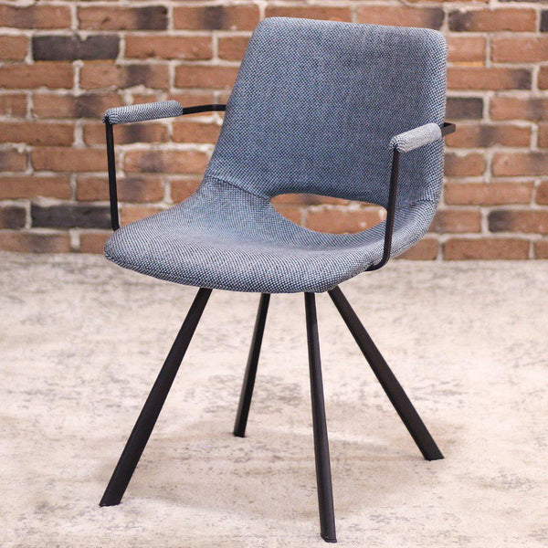 LORENA - Blue Fabric Dining Armchair - Wazo Furniture