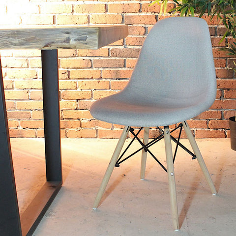 Eames Style Fabric Side Chair - FINAL SALE - Wazo Furniture