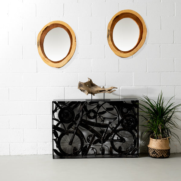 ALDER - Live Edge Suar Mirror (80 cm) - Wazo Furniture