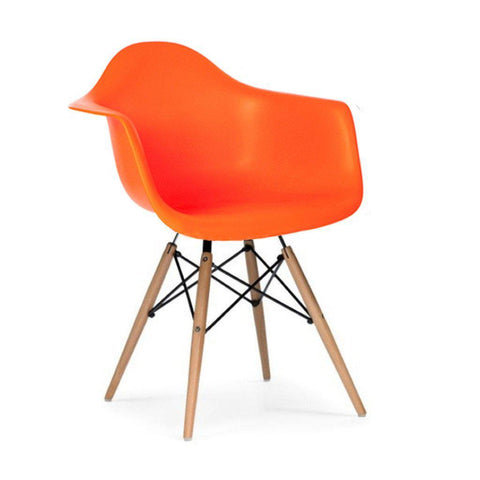 Eames Style Molded Armchair - Yellow & Orange - Final Sale
