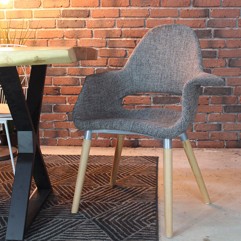Eames & Saarinen Fabric Organic Chair - Wazo Furniture