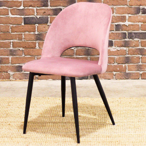 WALTER - Pink Velvet Chair