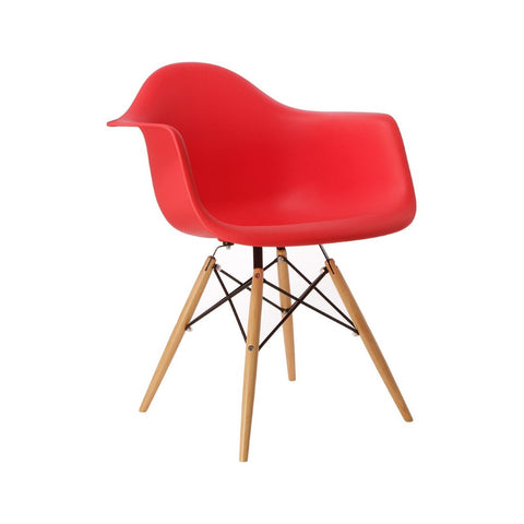Eames Style Molded Armchair - Red - Final Sale