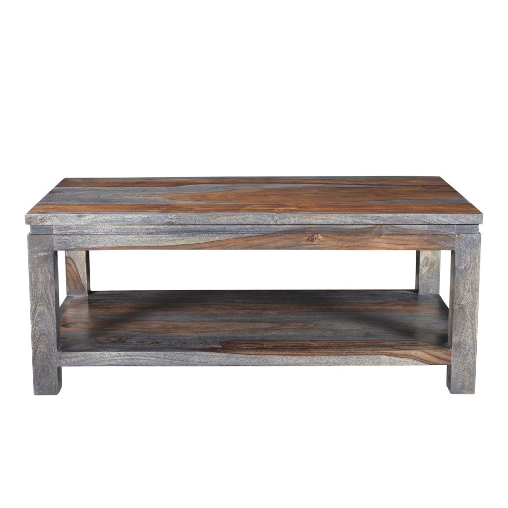 Davenport Rosewood Sheesham Coffee Table With Walnut Finish   Wazo Furniture