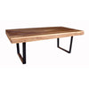 Natural Rosewood Table with U-Shaped Legs