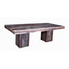 Rosewood Natural Wood Table with Wooden Square Legs - Wazo Furniture