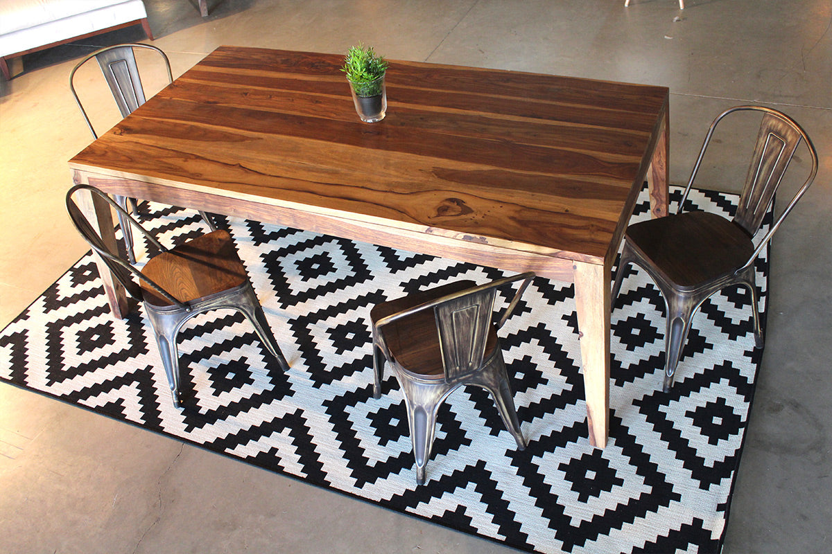 Scandinavian Rosewood Table With Angled Wood Legs Natural Wazo Furniture