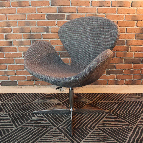ARNE Jacobsen Style Wool Swan Chair - Wazo Furniture