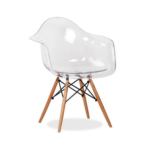 Eames Style Molded Armchair - Transparent
