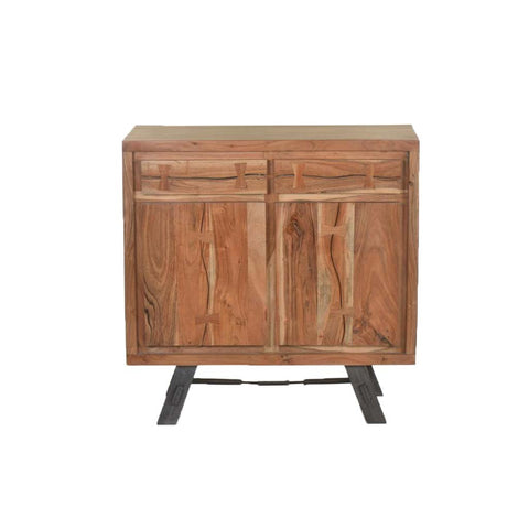 Two Door Live Edge Acacia Sideboard