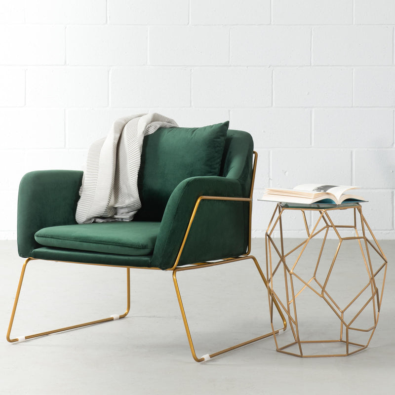 BROOK - Green Velvet Lounge Chair