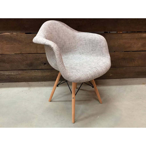 Eiffel Eames Style Armchair with Scandinavian Fabric