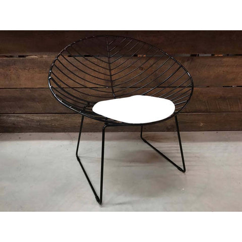 Industrial Leaf Wire Lounge Chair