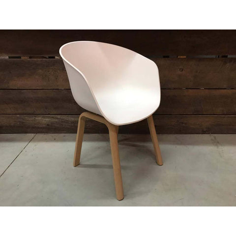 Scandinavian Bucket Side Chair with Metal Legs