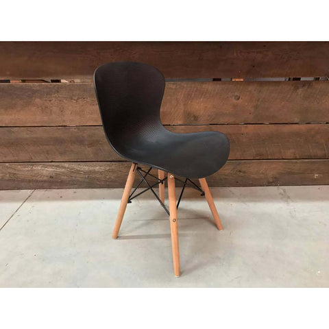Eames Style Molded Rabbit Side Chair with Eiffel Legs