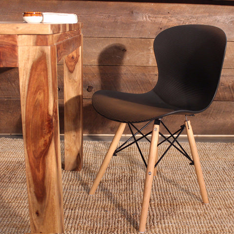Eames Style Molded Rabbit Side Chair with Eiffel Legs - FINAL SALE - Wazo Furniture