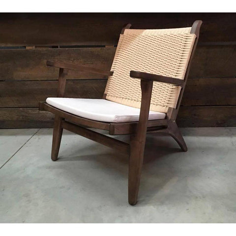 Hans Wegner Wooden Easy Lounge Chair - Wazo Furniture