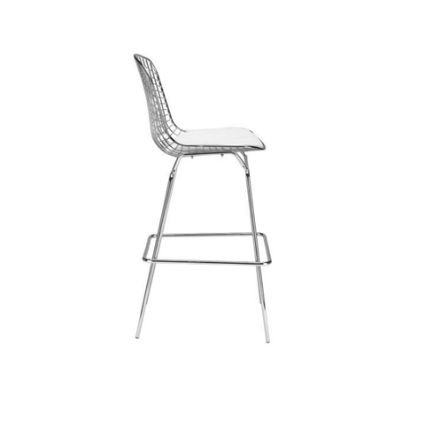 Bertoia Style Wire Bar Stool With Seat Pad Wazo Furniture