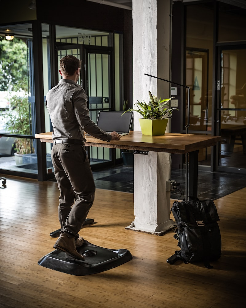 Topo The Not Flat Standing Desk Anti Fatigue Mat With
