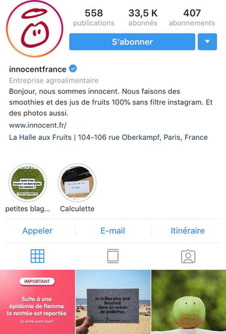 Bio Instagram Innocent