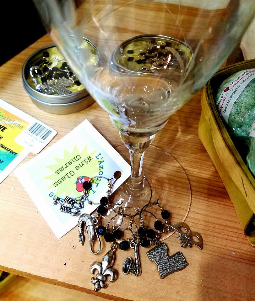 Louisiana WINE CHARMS Handmade by L'Amour Louisiane