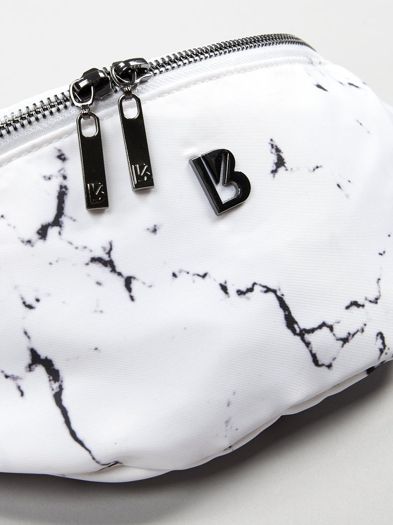 Game Changer Belt Bag - White Marble
