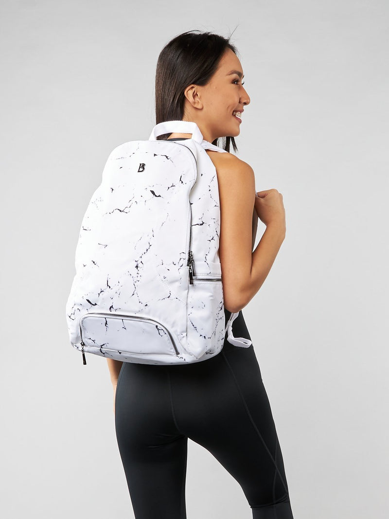 Game Changer Backpack - White Marble