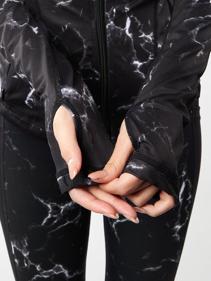 Limitless Fitted Jacket - Black Marble