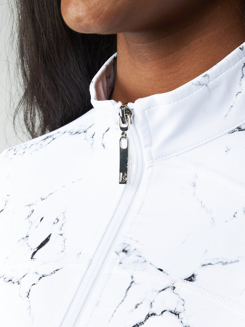 Limitless Fitted Jacket - White Marble