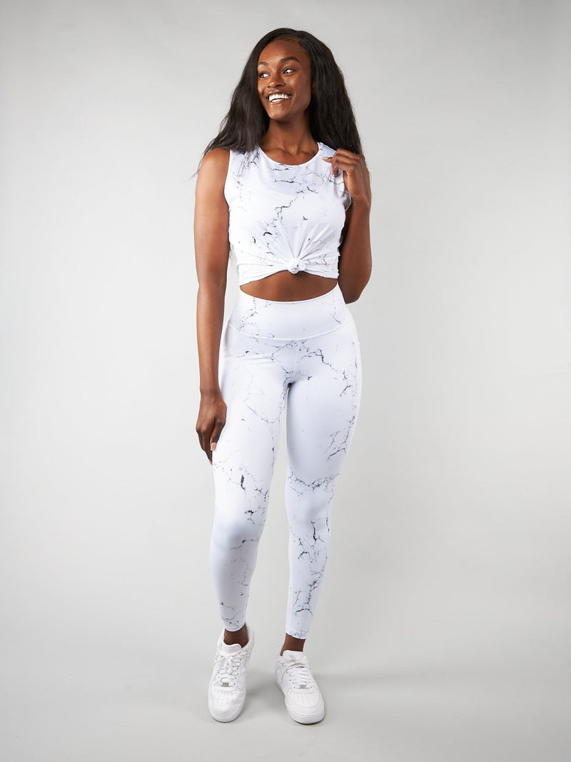 Limitless Flow Top - White Marble