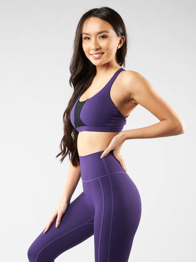Namastay Sports Bra - Purple Rain