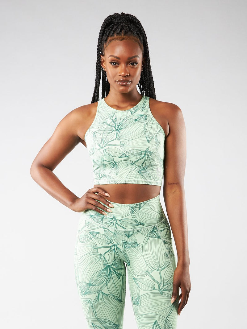 Aurora Crop Top - Citrus Green