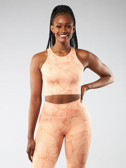 Aurora Crop Top - Citrus Peach