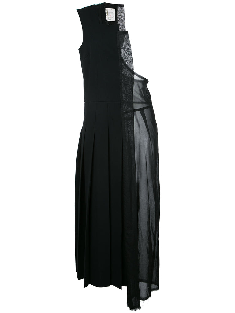 COMME DES GARÇONS laser cut one-shoulder dress