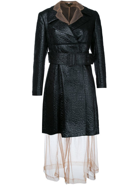 COMME DES GARÇONS sheer under layer coat dress