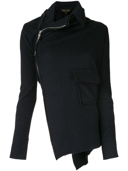 Comme Des Garçons twisted jacket with spiralling zip detail