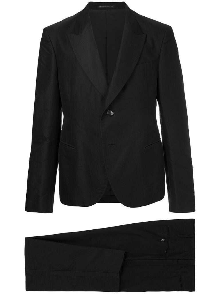 YOHJI YAMAMOTO Pour Homme cropped back panel suit
