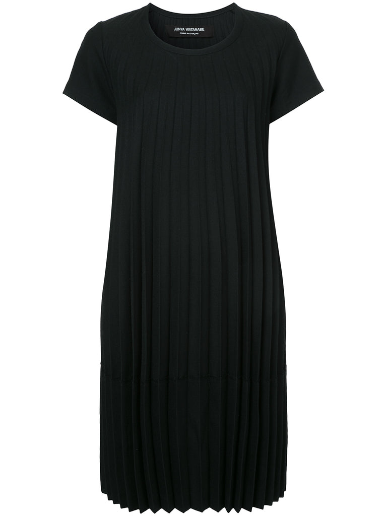JUNYA WATANABE COMME DES GARÇONS pleated short sleeve dress