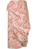 Junya Watanabe wrap around wavy print skirt