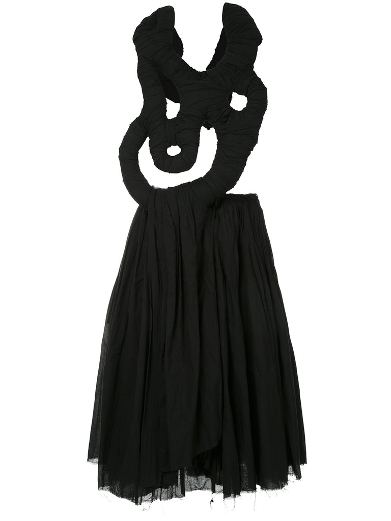 COMME DES GARÇONS abstract detail draped dress