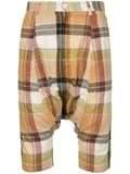 COMME DES GARÇONS Homme Plus Drop-Crotch Plaid Shorts with Cord Outlined Pockets