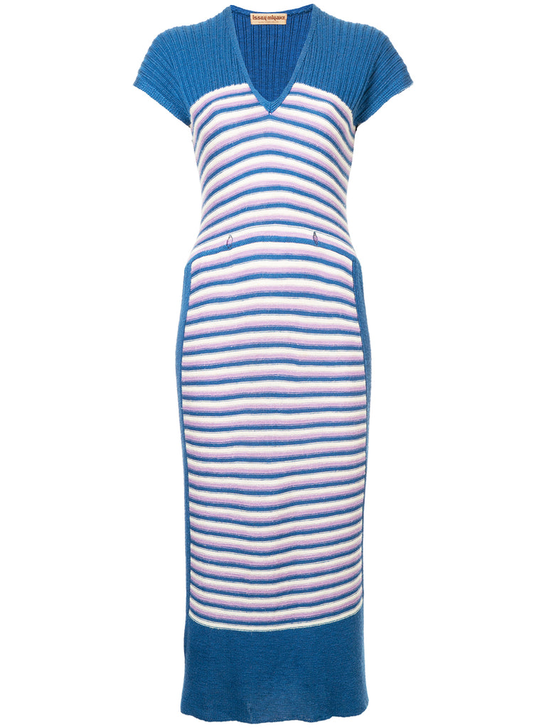 ISSEY MIYAKE striped knit dress