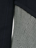 COMME DES GARÇONS houndstooth panel fitted coat