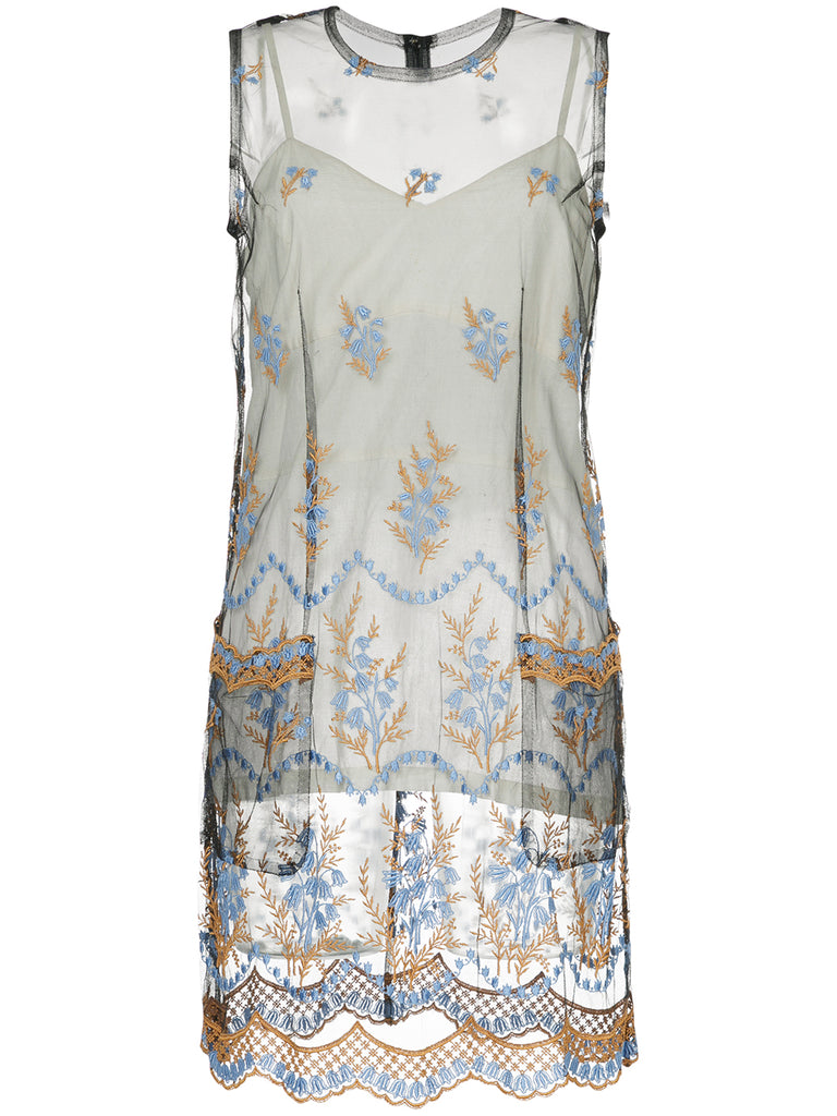 COMME DES GARÇONS sheer embroidered dress